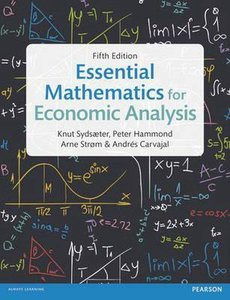 9781292074610 | Essential Mathematics for Economic Analysis