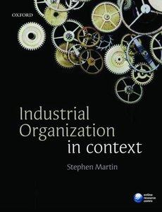 Industrial Organization in Context | 9780199291199