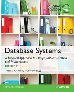 9781292061184   Database Systems A Practical Approach to Design, Implementation, and Management, Global Edition