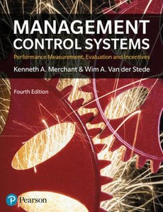 Management Control Systems 4th Edition   9781292110554